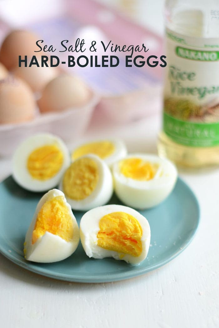 These Sea Salt and Vinegar Hard-Boiled Eggs are the perfect high protein snack to bring along with you to work or class. Make a batch at the beginning of the week and have a healthy choice on hand for the next 5 days!
