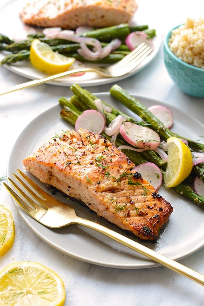All you need is 5 ingredients and 20 minutes and this Lemon Butter Seared Salmon will be ready for dinner! Salmon contains anti-inflammatory properties which are helpful in counterbalancing the bodies reaction to stress.