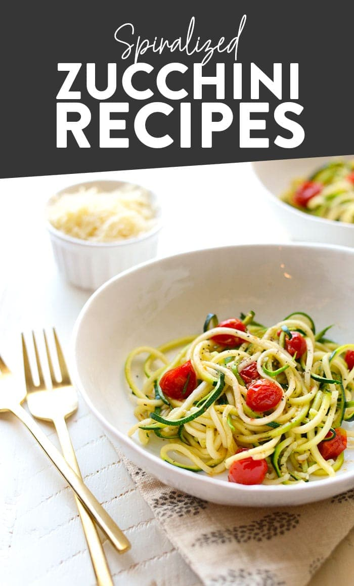 Spiralized Zucchini Recipes