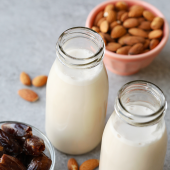 The Best Date Sweetened Homemade Almond Milk