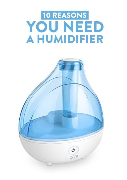 The new addition to my home that has made a huge difference this winter-- a humidifier! Humidifiers are a great way to stave off those nasty symptoms caused by dry winter air: itchy skin, restless nights and sinus pain anyone? Believe it or not, a humidifier can even help you save a few bucks. Woop, woop!