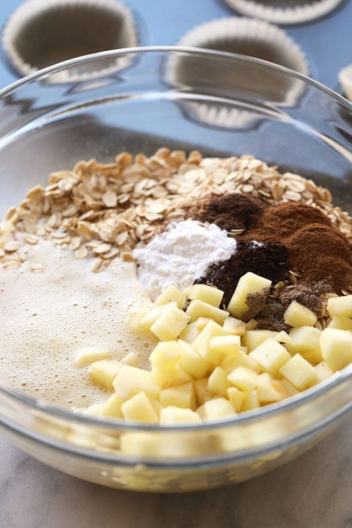ingredients for oatmeal cups