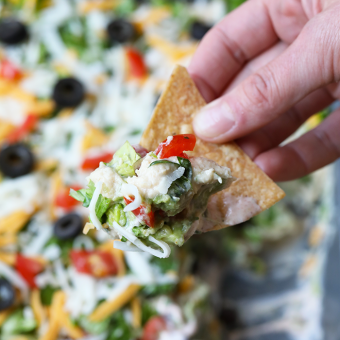 Healthy 7-Layer Greek Yogurt Taco Dip: Easy Appetizer Idea!