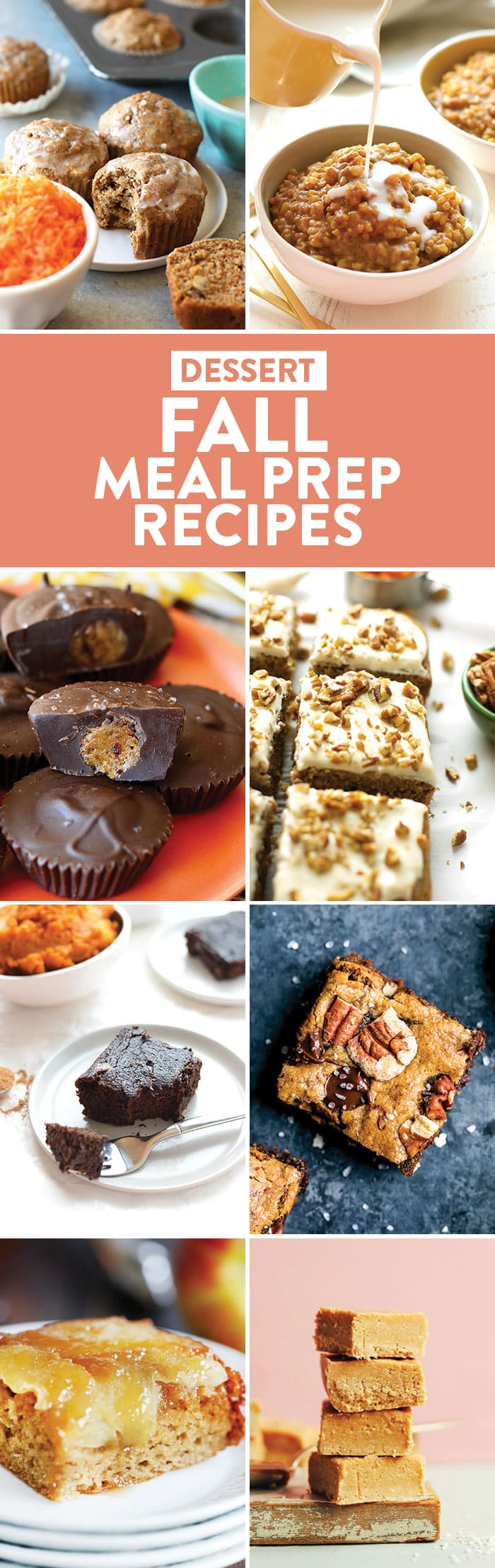 photo collage of dessert recipes