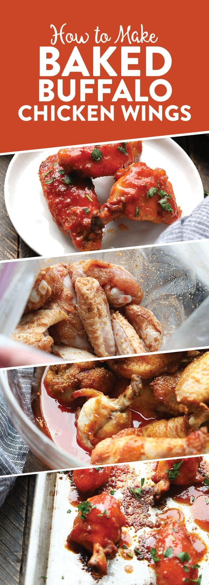 Make any game day or fun family gathering extra tasty with these Healthy Baked Buffalo Chicken Wings. They're rubbed with coconut sugar and garlic and tossed with tasty franks and honey. These wings are the perfect appetizer for any occasion.