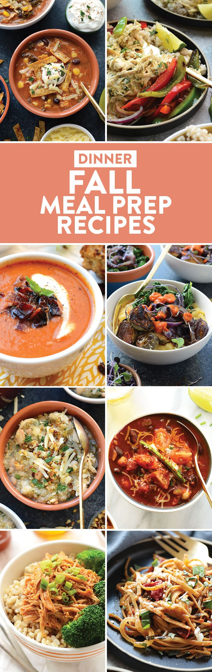 photo collage of dinner recipes