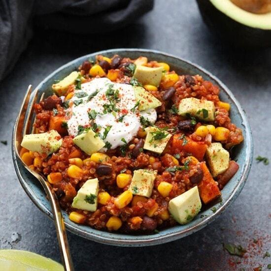 Mexican quinoa in bowl