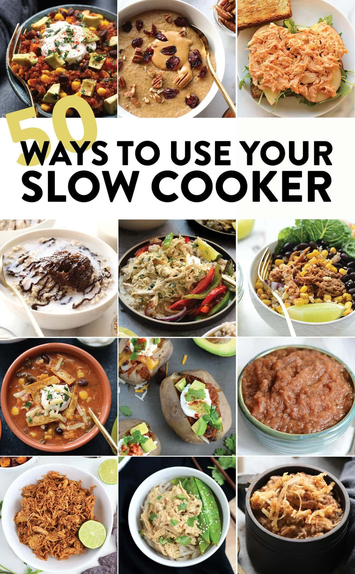 Get inspired this fall and make one of these 50 healthy slow cooker recipes. In this round-up, you'll find meat-filled dinners, vegetarian lunches, meal-prep lunches/dinner, delicious breakfast, and then some