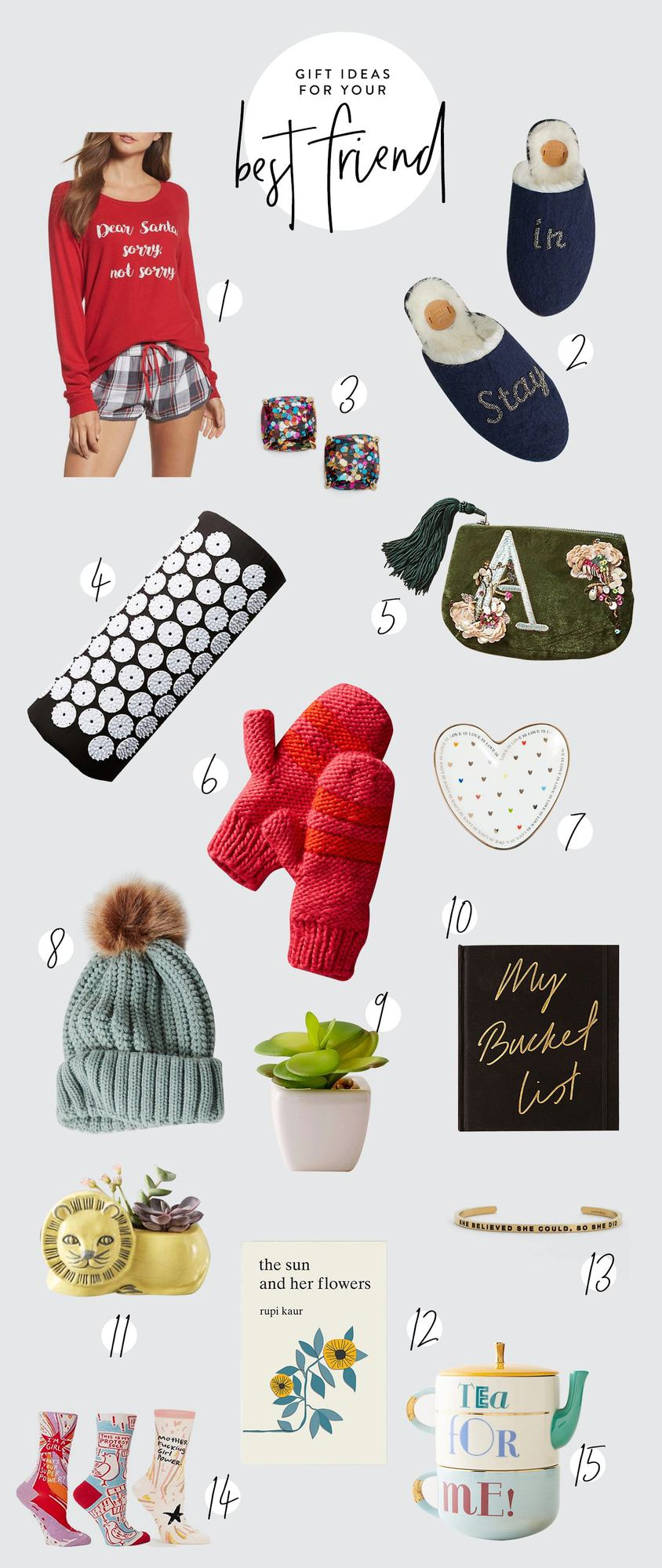 We know how important your best friend is to you, so that's why we rounded up the best gifts for best friends. Buy your bestie one of these fun and thoughtful gifts and you're sure to put a smile on her face! #giftguide #holiday #shopping