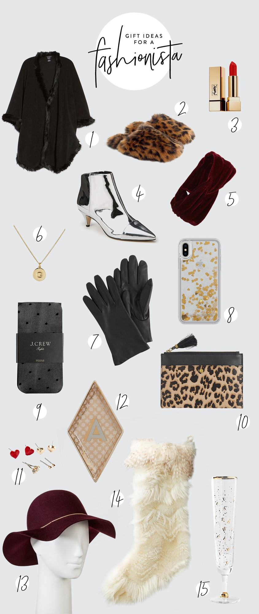 Gift shopping for your fashionable friend is made easy with this set of trendy gift ideas for a fashionista. She will turn heads with any of the gifts from this list! Here are our favorite gift ideas for a fashionista. #giftguide #holiday #shopping