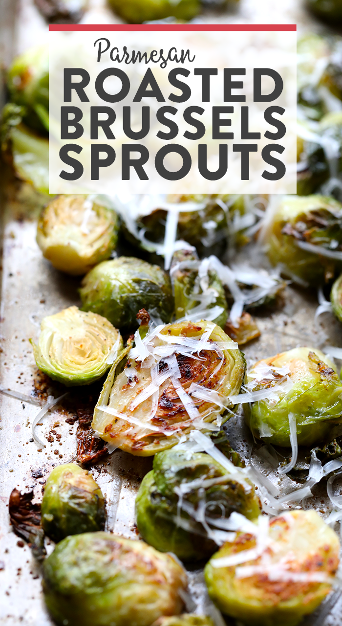 Nothing tastes like fall more than these Parmesan Garlic Roasted Brussels Sprouts. All you need are 6 ingredients in order to make these crunchy, cheesy bites of heaven!