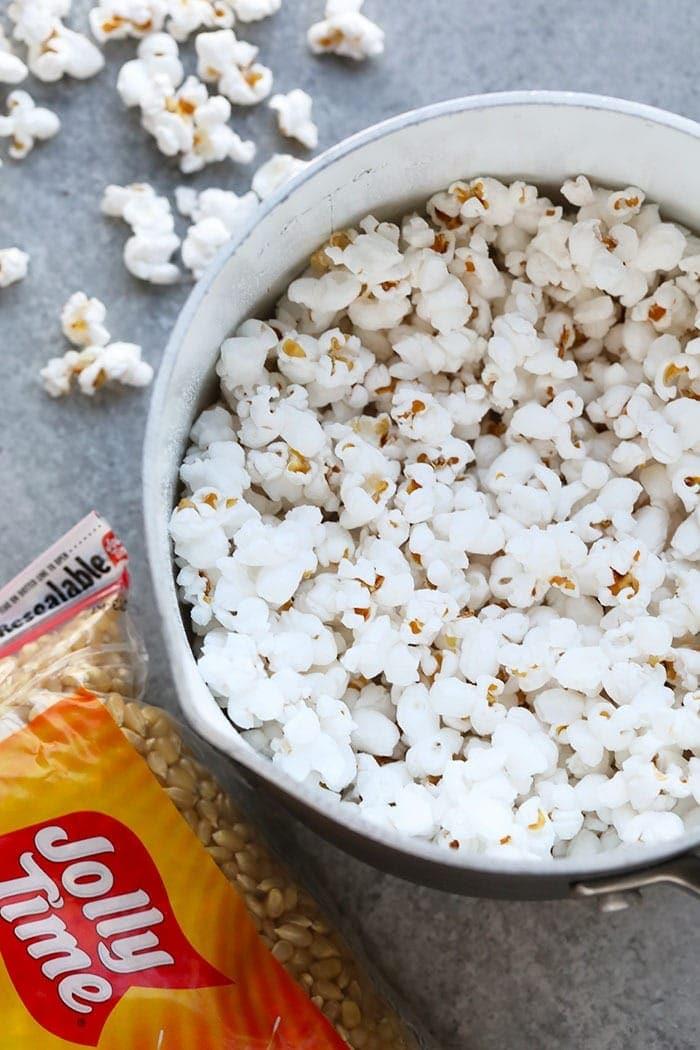 Popcorn in a pot
