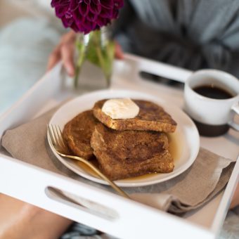 VIDEO: Breakfast in Bed Pumpkin French Toast with Pumpkin Coconut Whip