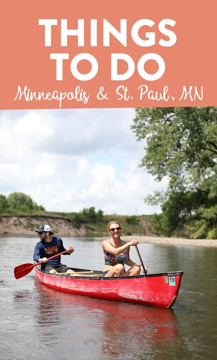 Fit Foodie Finds canoeing in the summer in Minnesota