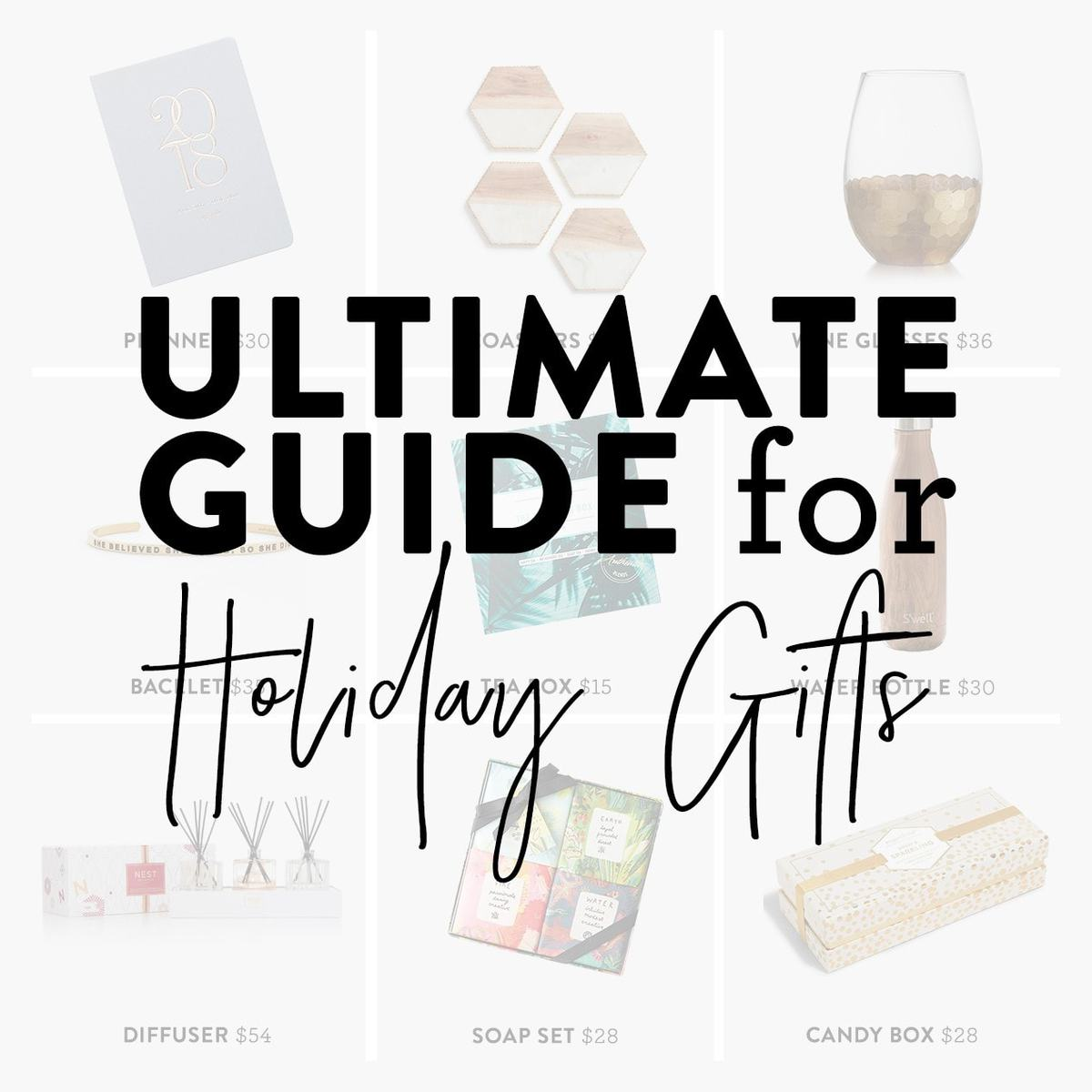 Need help with some gift-giving inspiration? We created The Ultimate Guide for Holiday Gift Ideas for the moms, sisters, coworkers, boyfriends, etc. in your life! #giftguide #holiday #shopping