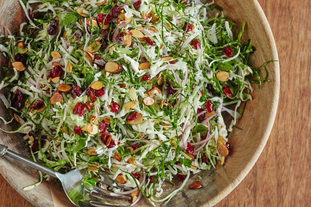 This easy, colorful slaw is the answer to this dilemma. It won't wilt like other green salads and can sit out for a while, making it a great addition to the Thanksgiving buffet.