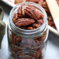 Pecans in a glass