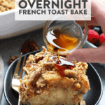 Prep this Maple Pecan Overnight French Toast Bake recipe the night before so that you can serve your guests a healthy warm meal in the morning. This yummy breakfast is actually a sourdough French toast bake made healthier with the addition of Greek yogurt and real maple syrup.