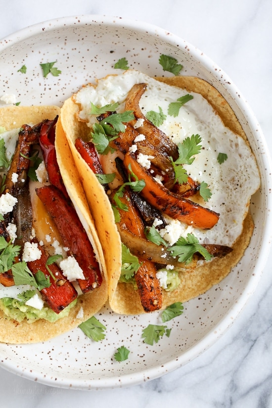I just love breakfast tacos with eggs, and these breakfast fajitas are no exception. Loaded with peppers, onions and guacamole and topped with a runny egg (you can prepare the eggs however you like). Read more at https://www.skinnytaste.com/spicy-breakfast-fajitas-with-eggs-and-guacamole/#tM4MRMVchzVMrx77.99