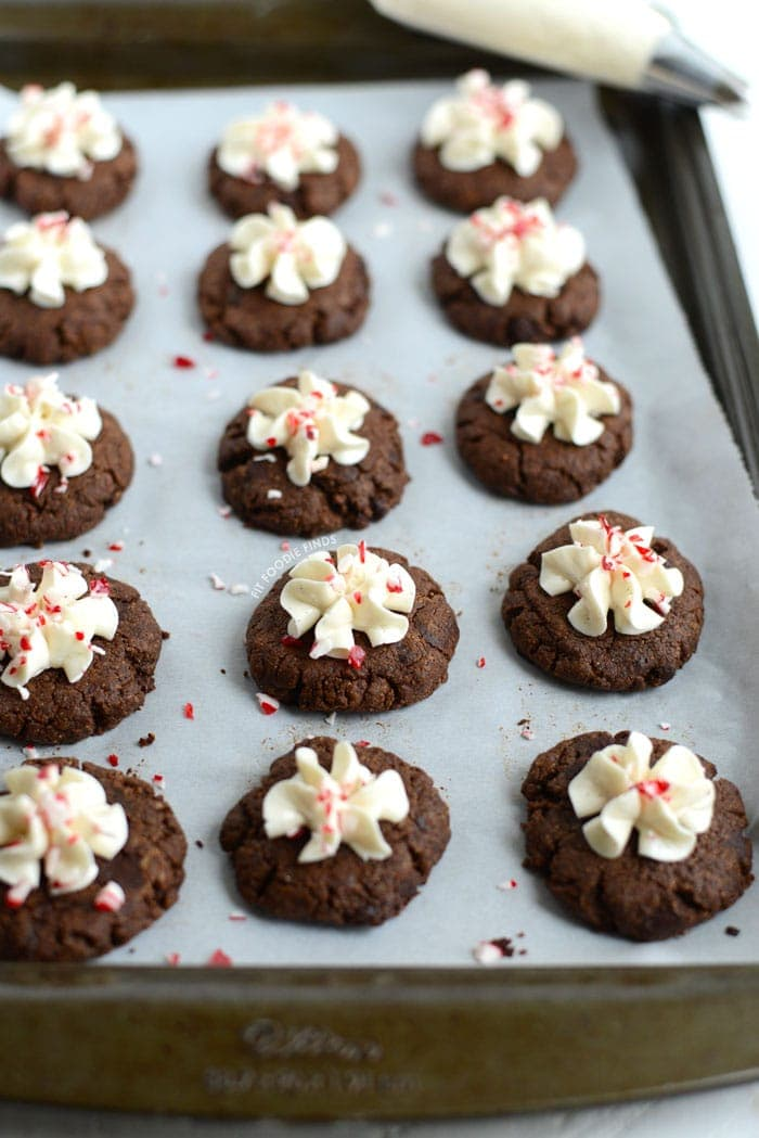 These Paleo Hot Cocoa Cookies are gluten-free, dairy-free, grain-free, and all around delicious! Whip em up in less than 30 minutes for the most delicious Christmas cookie there is!
