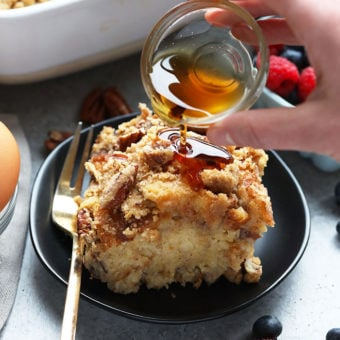 Maple Pecan Overnight French Toast Bake with Sourdough