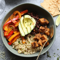 VIDEO: Meal-Prep Vegetarian Quinoa Burrito Bowl