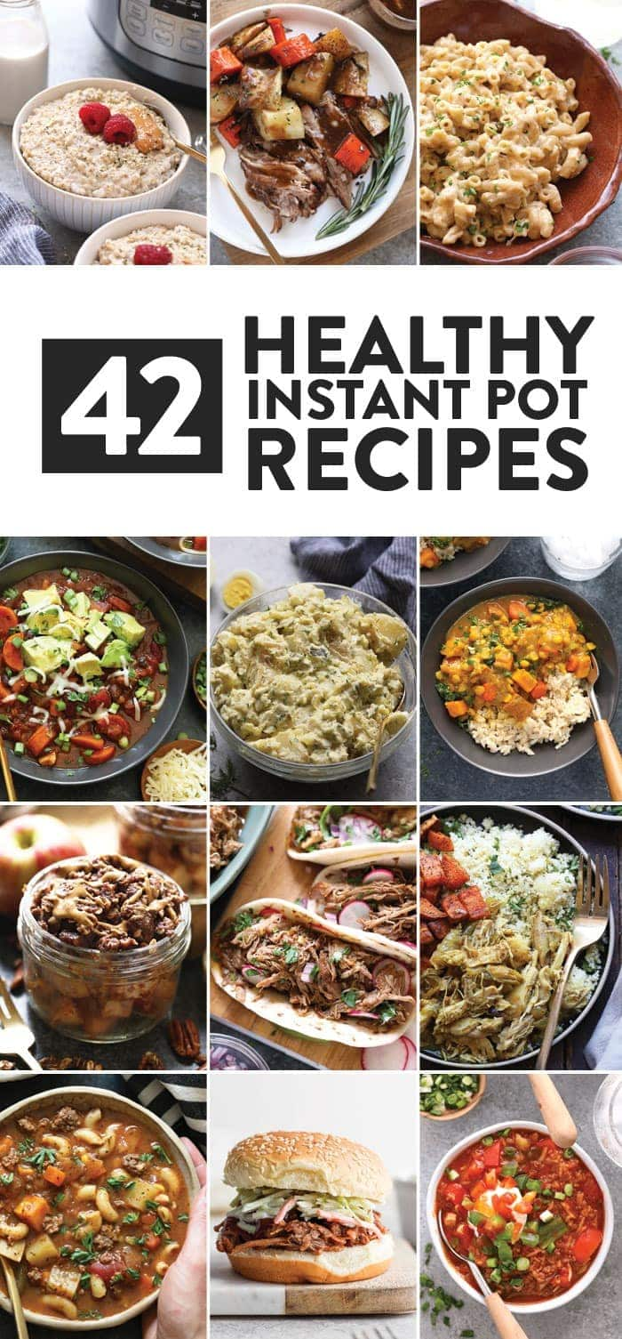 A collage of of Instant Pot recipes