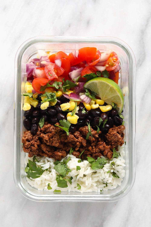 meal-prep taco bowl recipe