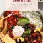 beef taco bowls