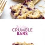 triple berry crumble bars