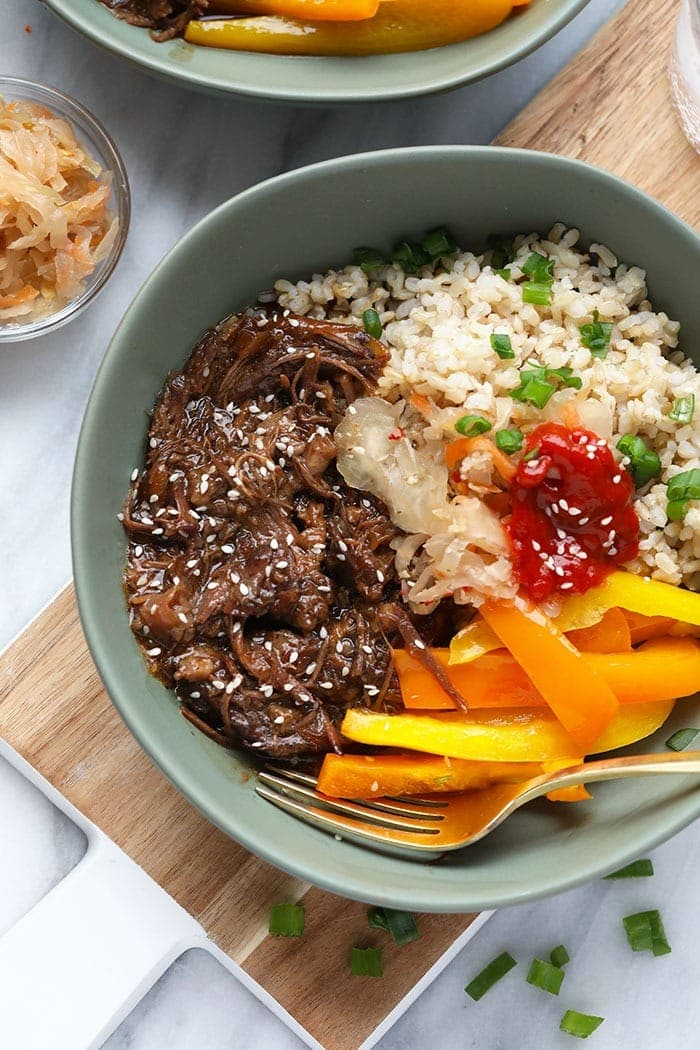 Korean Beef in a bowl