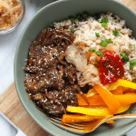Start your week off right with this Instant Pot Korean Beef Bowl recipe. Your family and friends will absolutely love this meal! It tastes fancy but only takes a couple hours to prepare this fall-off-the-bone shredded Korean beef with your Instant Pot.