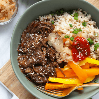 Instant Pot Korean Beef Bowl Recipe {VIDEO}