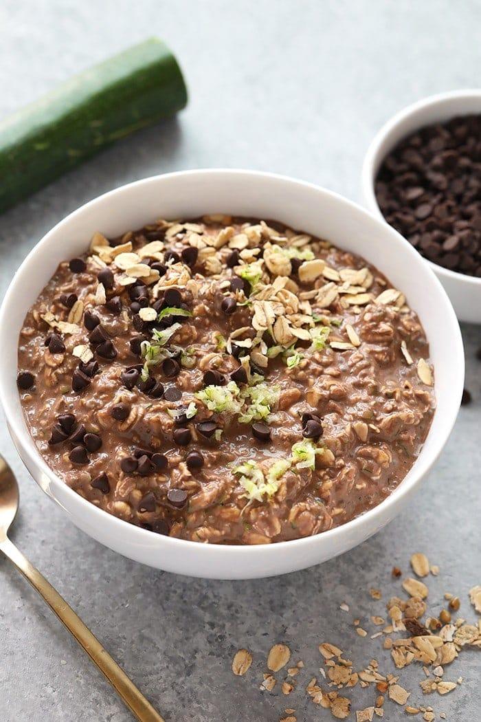 Chocolate Zucchini Muffin Overnight Oats