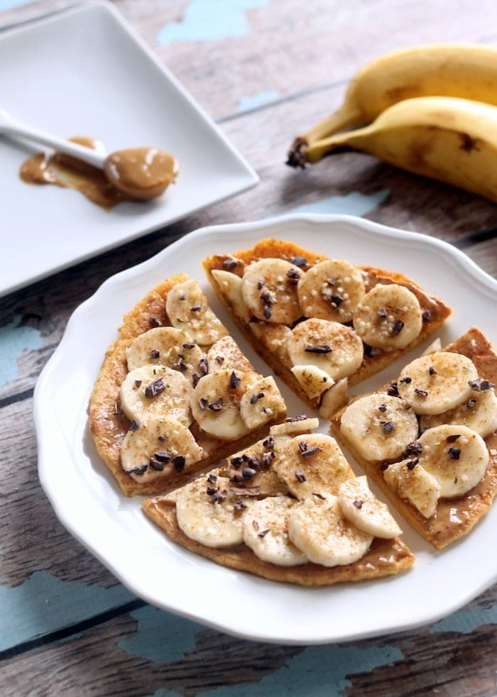 Peanut Butter Breakfast Pizza