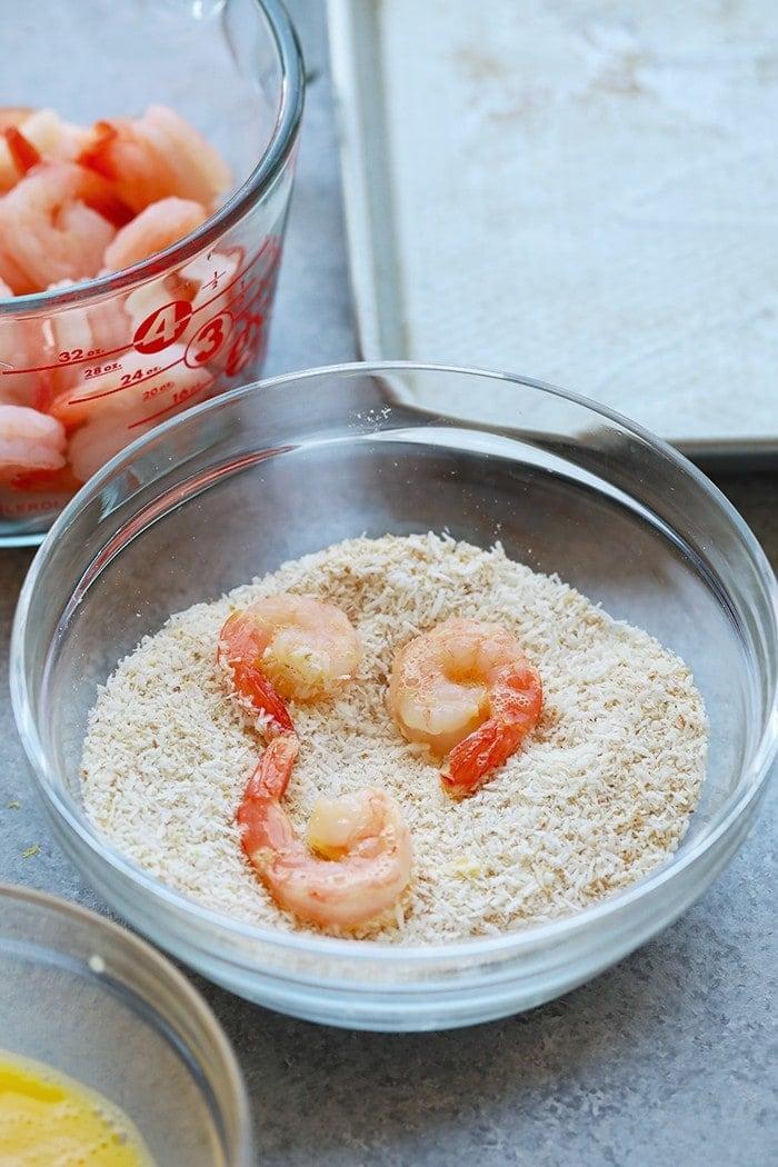 Shrimp in bowl