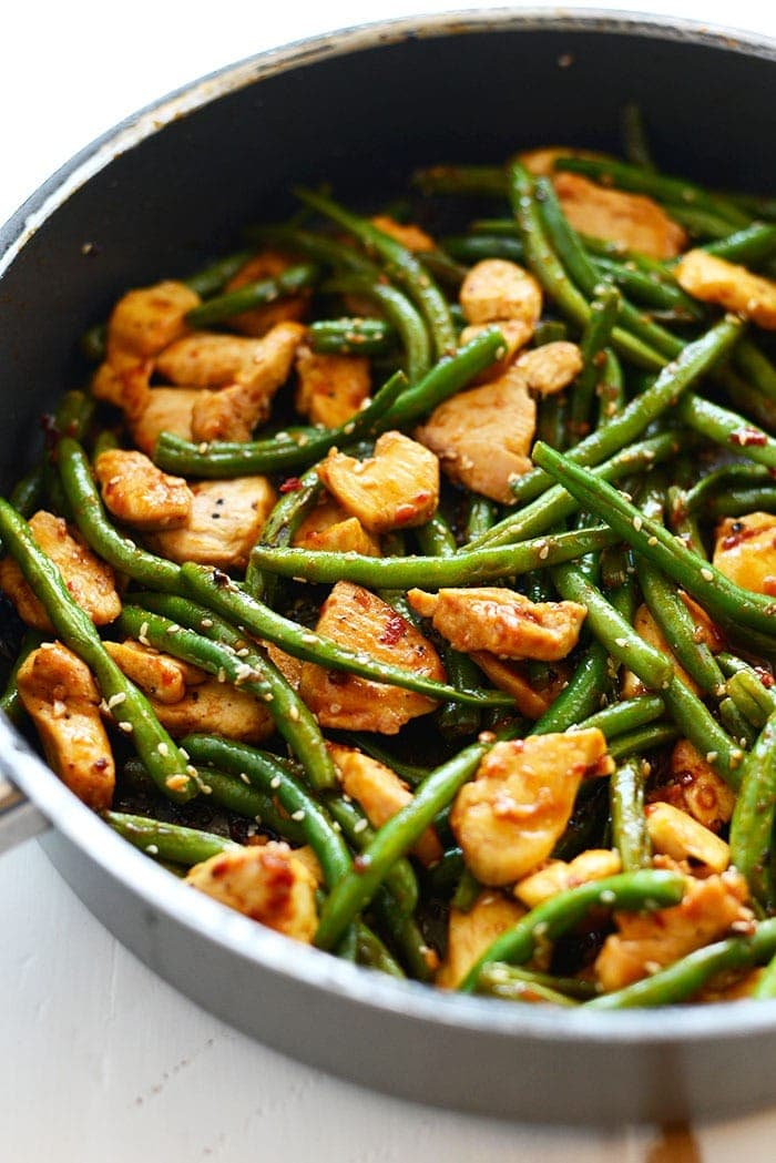 kung pao chicken in pan