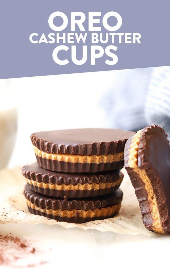 Oreo Cashew Butter Cups