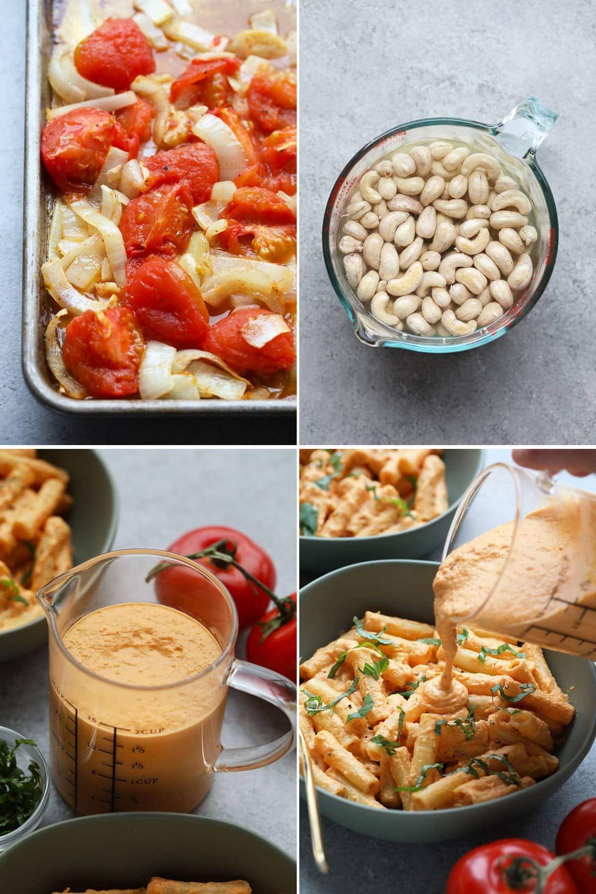 creamy vegan pasta with best creamy tomato pasta sauce