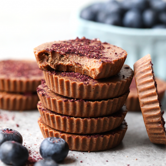 Blueberries and Cream Cashew Butter Cups