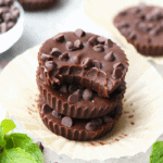 Healthy Thin Mint Almond Butter Cups!