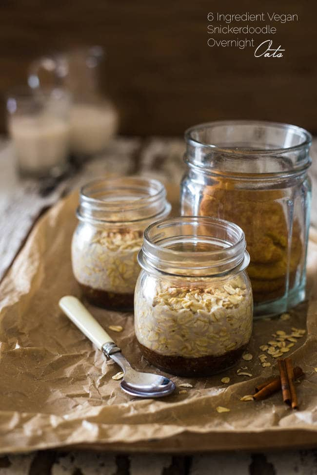 Snickerdoodle Vegan Overnight Oats