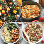 4 easy and healthy vegetarian recipes.