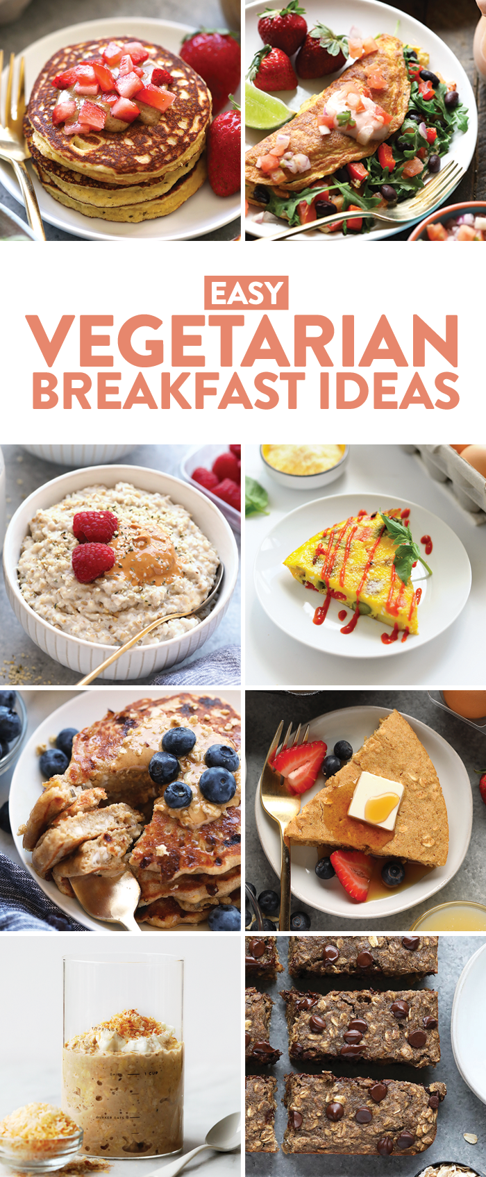 Are you team savory or team sweet? When it comes to healthy vegetarian breakfasts, I'm all about savory. And if I can start my day off with a savory meal-prepped brekkie on the go that will actually keep me full til lunch, even better. Regardless of which team you're on, these healthy vegetarian breakfast recipes will help you start your day off right with a protein-packed meal. A win-win, right?!