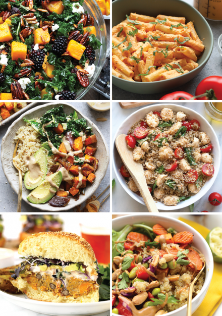 6 easy and healthy meal prep recipes.