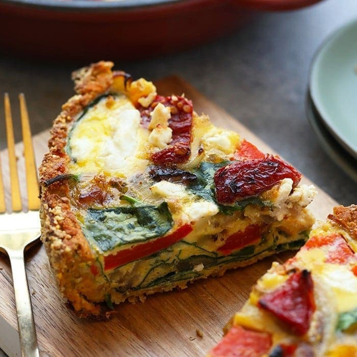 Sweet Potato Crust Quiche Video Fit Foodie Finds