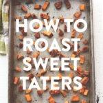 sweet potatoes on pan