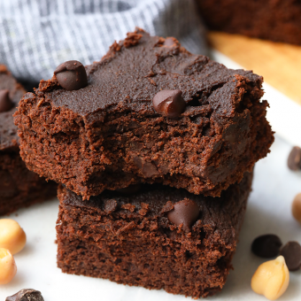 Fudgy Homemade Brownies with Garbanzo Beans