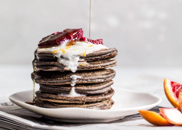 Blood Orange Buckwheat Pancakes