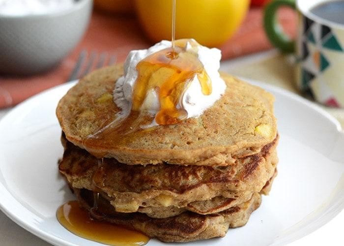 Gluten-Free Apple Cinnamon Oat Pancakes